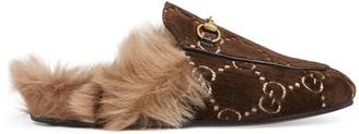 Gucci Princetown velvet slipper