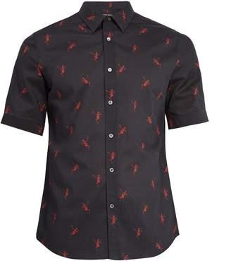 Alexander McQueen Dancing skeleton-print cotton short-sleeved shirt