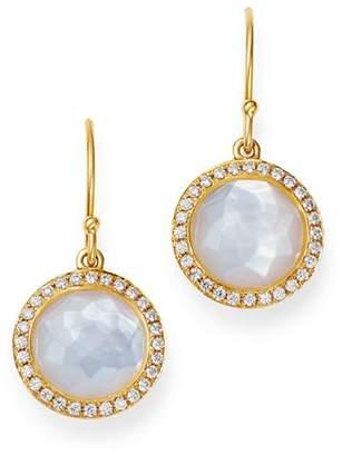 Ippolita 18K Yellow Gold Lollipop Mother-of-Pearl & Pavé Diamond Mini Drop Earrings