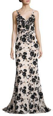 Jovani Embellished Floral Gown $700 thestylecure.com