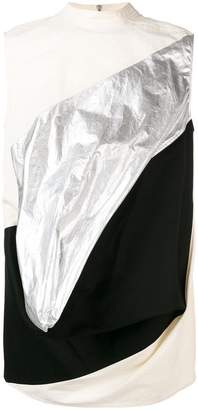Rick Owens draped colour block top