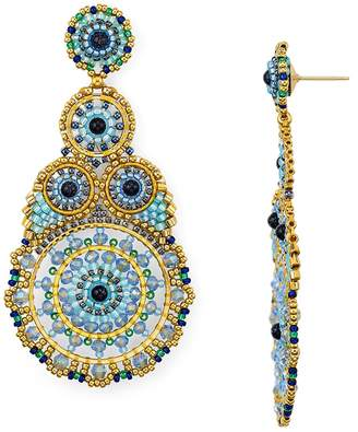 Miguel Ases Statement Circle Drop Earrings