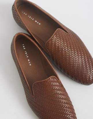 e488af32c519b at The Idle Man · The Idle Man Woven Slip On Leather Shoe Tan