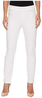 Liverpool Meredith Ankle Pull-On Slim in Slub Stretch Twill in Bright White Women's Casual Pants