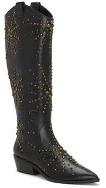 1 STATE 1.STATE Sabylla Studded Leather Cowboy Boots