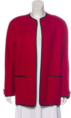 Christian Dior Long Sleeve Open Front Jacket