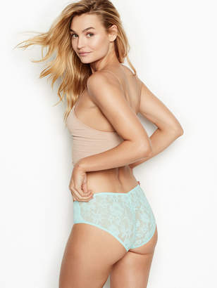 Victoria's Secret Stretch Cotton Lace Ruched-back Hiphugger Panty
