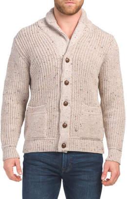 Made In Ireland Button Merino Wool Cardigan