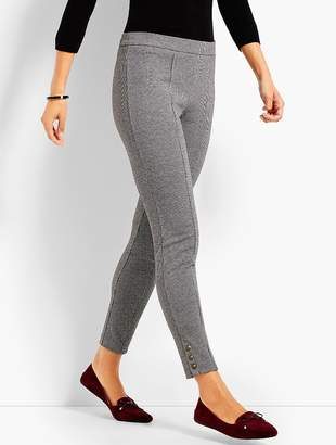 Talbots Mini Check Button-Ankle Legging