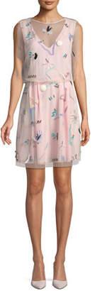 Emporio Armani Sleeveless Embellished Silk Dress