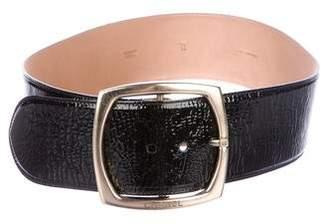 Chanel Patent Leather Waist Belt