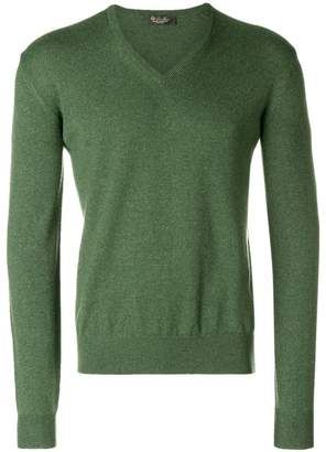 Loro Piana fine knit V-neck sweater