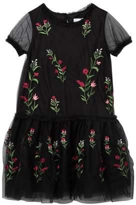 BCBGirls Embroidered Mesh Drop Waist Dress (Big Girls)