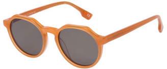 Le Specs Luxe Bang Round Plastic Keyhole Sunglasses