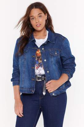 Nasty Gal Womens Rinse And Repeat Plus Denim Jacket - Blue - 22, Blue