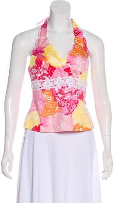 Lilly Pulitzer Floral Print Halter Top