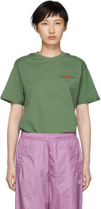 032c Green Embroidery Pin T-Shirt