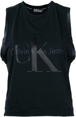 Calvin Klein Jeans logo print tank top $49.47 thestylecure.com