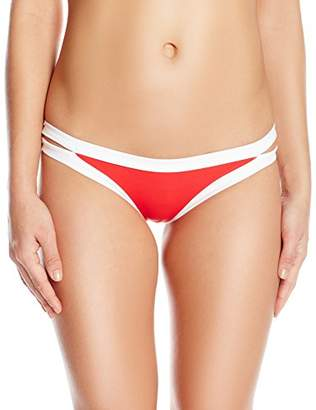 Seafolly Women's Block Party Brazilian Low Rise Bikini Bottom Swimsuit