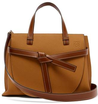 Loewe Gate Top Handle Leather Bag - Womens - Tan
