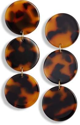 Halogen Resin Disc Drop Earrings