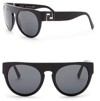 Versace 55mm Round Sunglasses