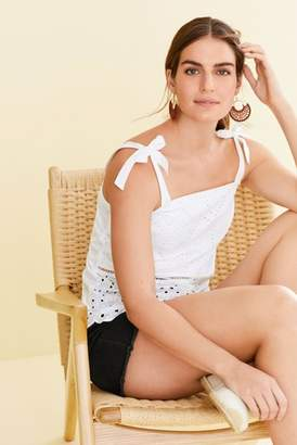 Next Womens White Tie Broderie Cami Top