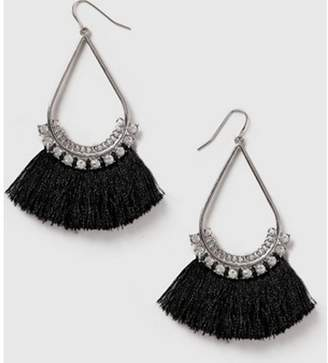 Dorothy Perkins Womens Silver Look Fan Tassel Earrings
