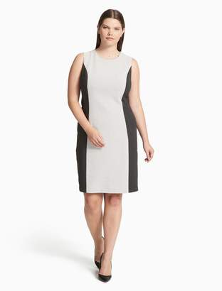 Calvin Klein plus size jacquard sleeveless dress