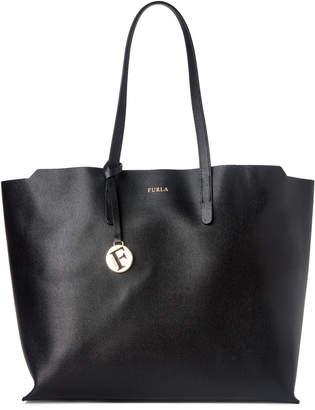 Furla Onyx Saffiano Leather Large Sally Tote