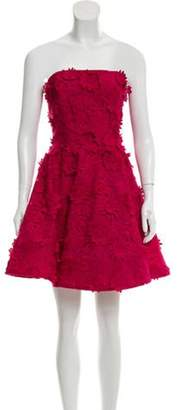 Costarellos Strapless Embroidered Dress w/ Tags Magenta Strapless Embroidered Dress w/ Tags