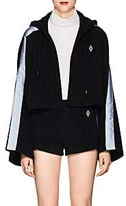 Marcelo Burlon County of Milan WOMEN'S LOGO COTTON FRENCH TERRY CROP HOODIE
