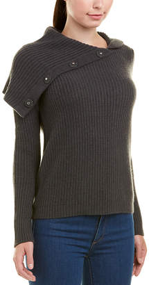 Autumn Cashmere Turtleneck Wool & Cashmere-Blend Pullover