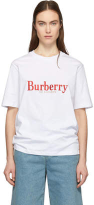 Burberry White Vintage Logo Lopori T-Shirt