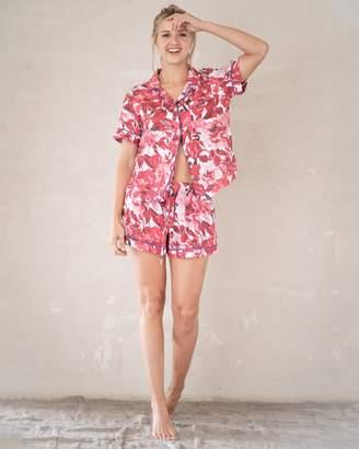 The Lazy Poet Nina Linen Short Sleeve Short Pajama Set
