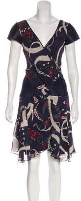Temperley London Silk Bird Print Dress