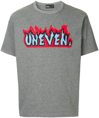 Kolor flame slogan patch T-shirt