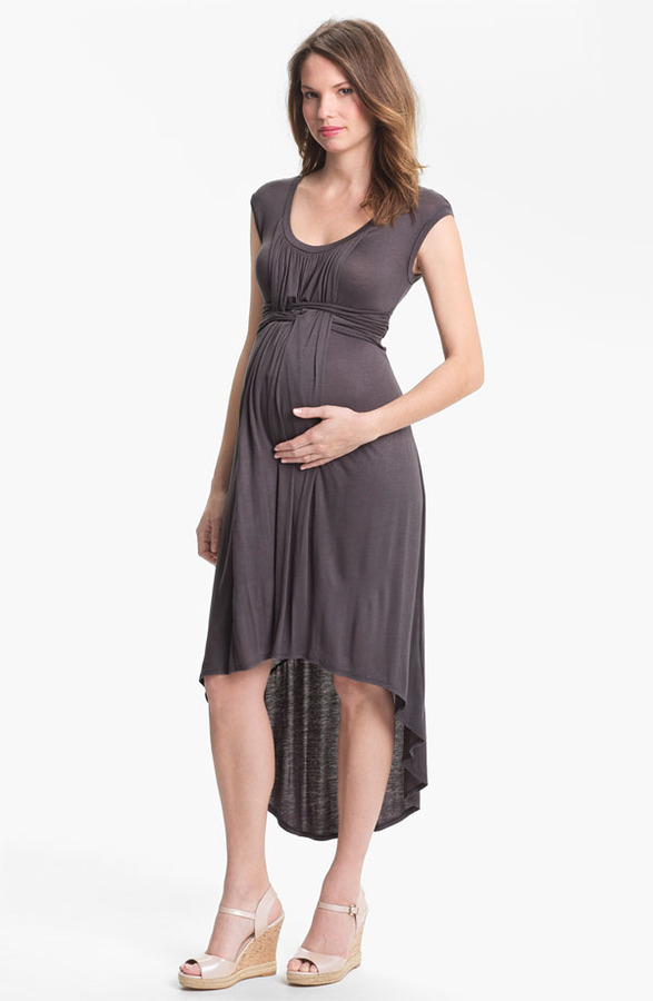 Japanese Weekend High/Low Maternity Dress
