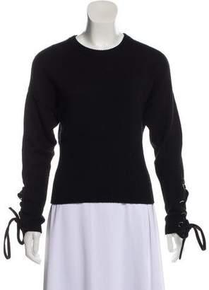 Neil Barrett Lace-Up Wool Sweater