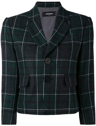 DSQUARED2 Tartan check cropped blazer