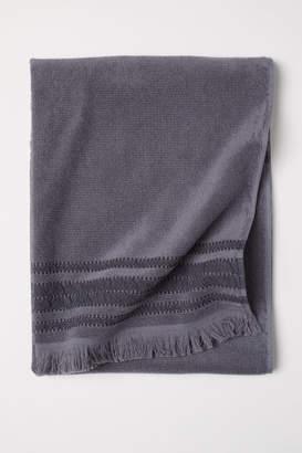 H&M Striped Bath Towel - Gray