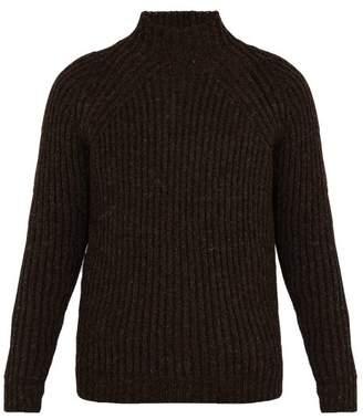 De Bonne Facture - Ribbed Knit Wool Sweater - Mens - Brown
