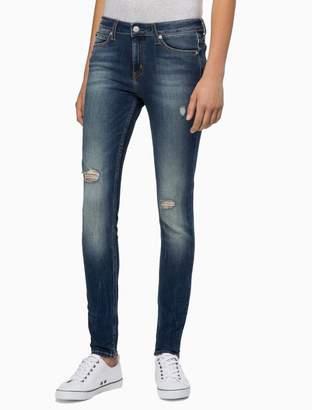 Calvin Klein CKJ 001 super skinny pup blue jeans