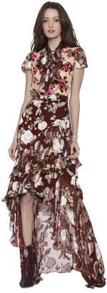 Alice + Olivia Walker Asymmetrical High Low Midi Skirt