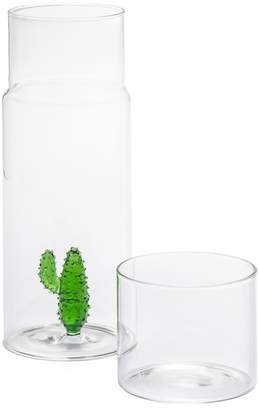 Torre & Tagus Cactus Glass Water Carafe