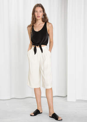 And other stories High Waisted Bermuda Shorts