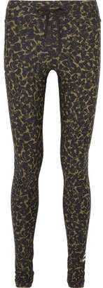 The Upside Leopard-print Stretch Leggings - Green