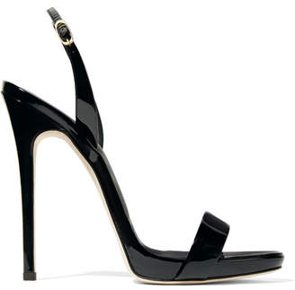 Giuseppe Zanotti Sophie Patent-leather Slingback Sandals - Black