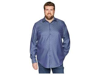Robert Graham Big Tall Diamante Long Sleeve Woven Shirt Men's Clothing