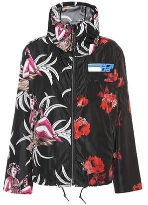 Floral technical jacket